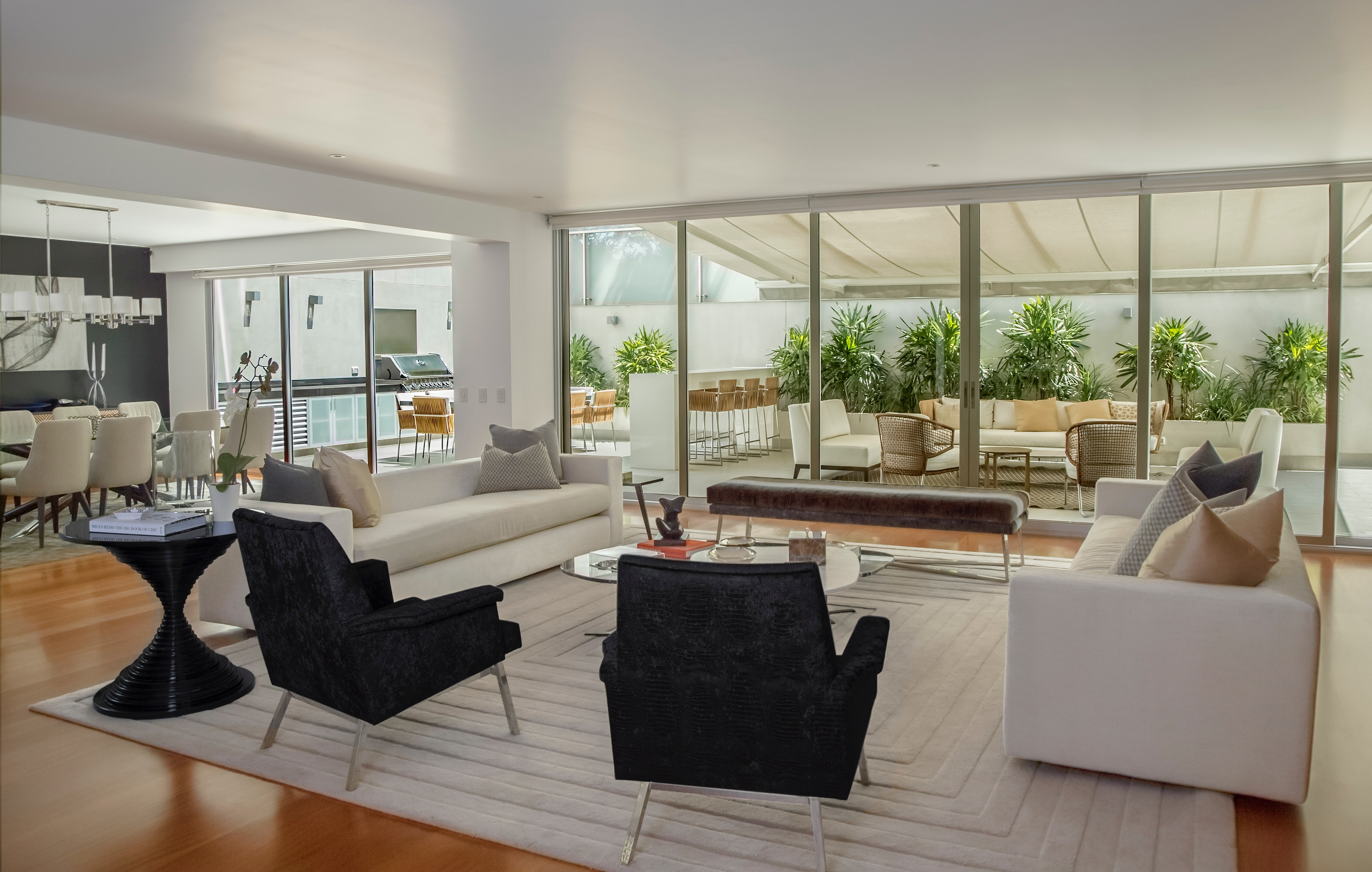 staged furniture in living room