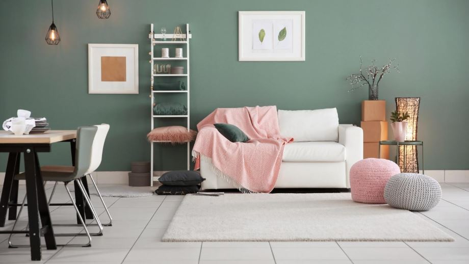 fashionable furniture in the living room