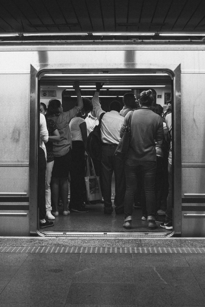The hustle of commuting everyday in a train