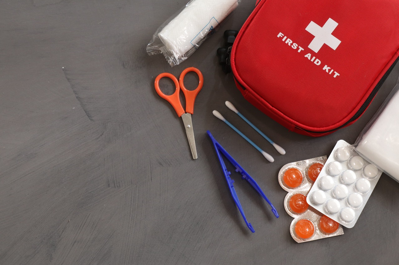 Items in a first-aid kit