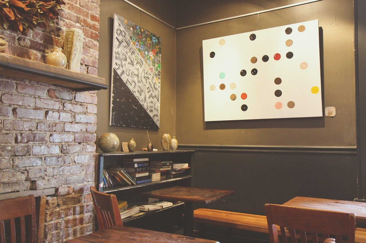 wall art and brown color palette